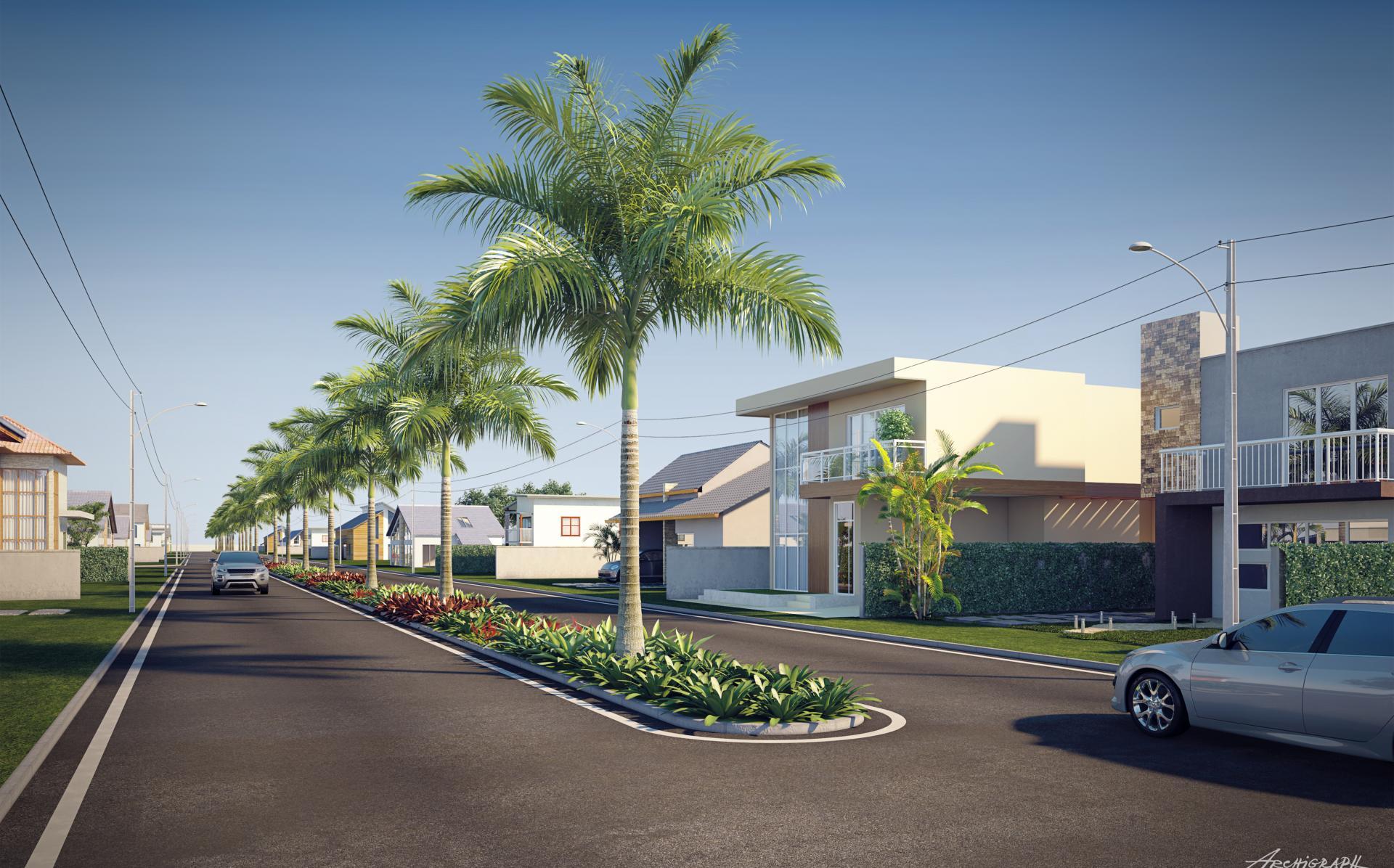 Terrenos de 180 m² a 390 m² e casas de 2 e 3 quartos